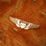 CNAC pilot's wings on a map of the Hump