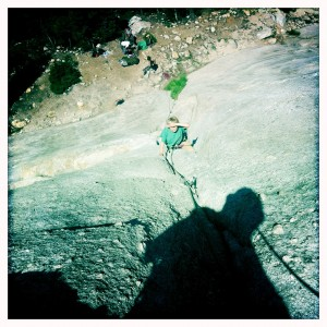 Ryan on Holdless Horror in Tuolumne Meadows in 2011